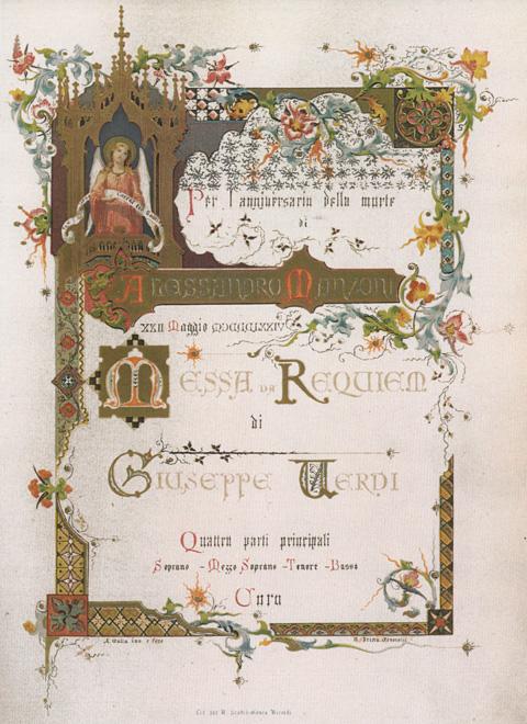 Titelblatt Verdi-Requiem