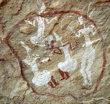 Felsmalerei im Akakus-Gebirge (Libyen), Aufnahme Jürgen Schmidt