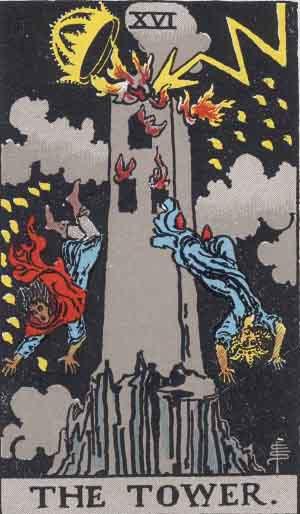 Der Turm (Rider-Waite Tarot)