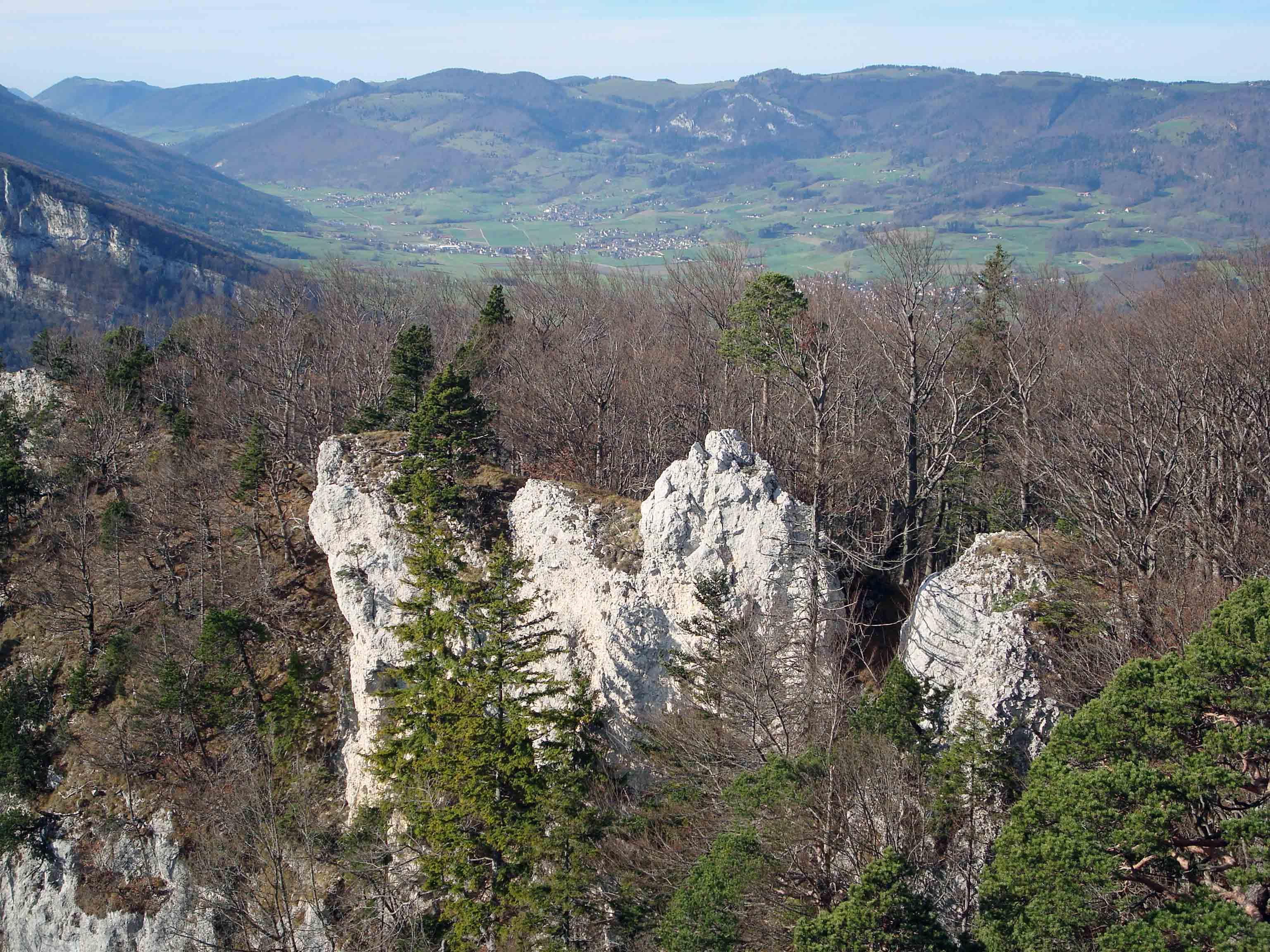 """Blick in die Landchaft """"Thal"""" von der Roggenfluh aus"""