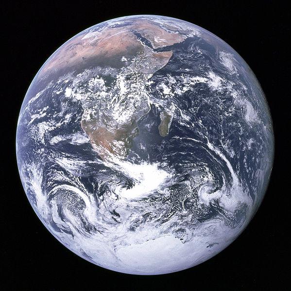 Unser Planet Erde von der Raumkapsel Apollo aus gesehen