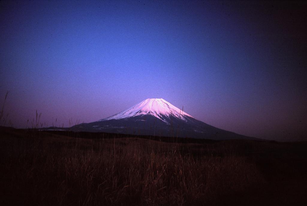 Mt. Fuji nach Sonnenuntergang