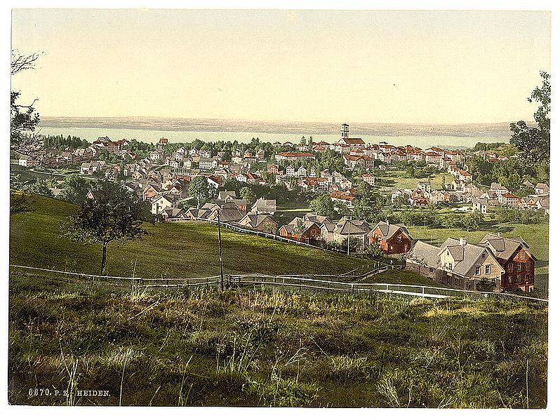 Heiden um 1900, Blick auf Bodensee