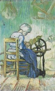 Die Spinnerin (Vincent van Gogh, 1889)