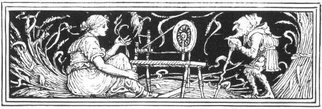 Rumpelstilzchen-Illustration von Walter Crane (1886)
