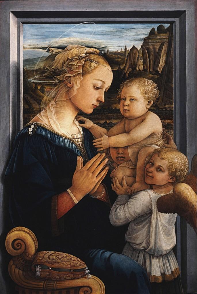 Madonna mit Kind und zwei Engeln