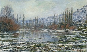 Claude Monet: Tauwetter an der Seine bei Vetheuil