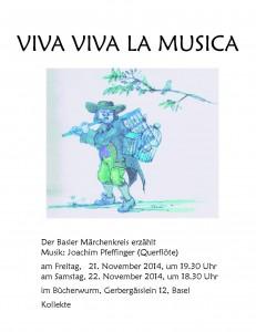 Flyer Viva Viva la Musica