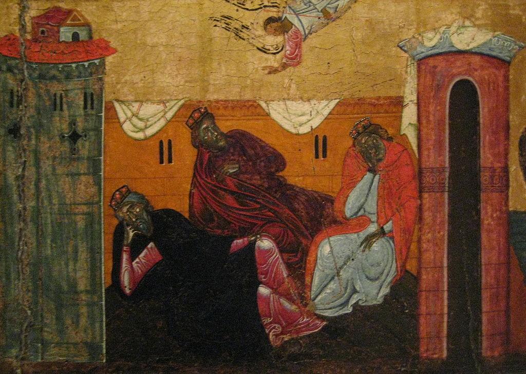 der Traum der Magier (3 Könige) von Coppo di Marcovaldo (13.Jhdt)
